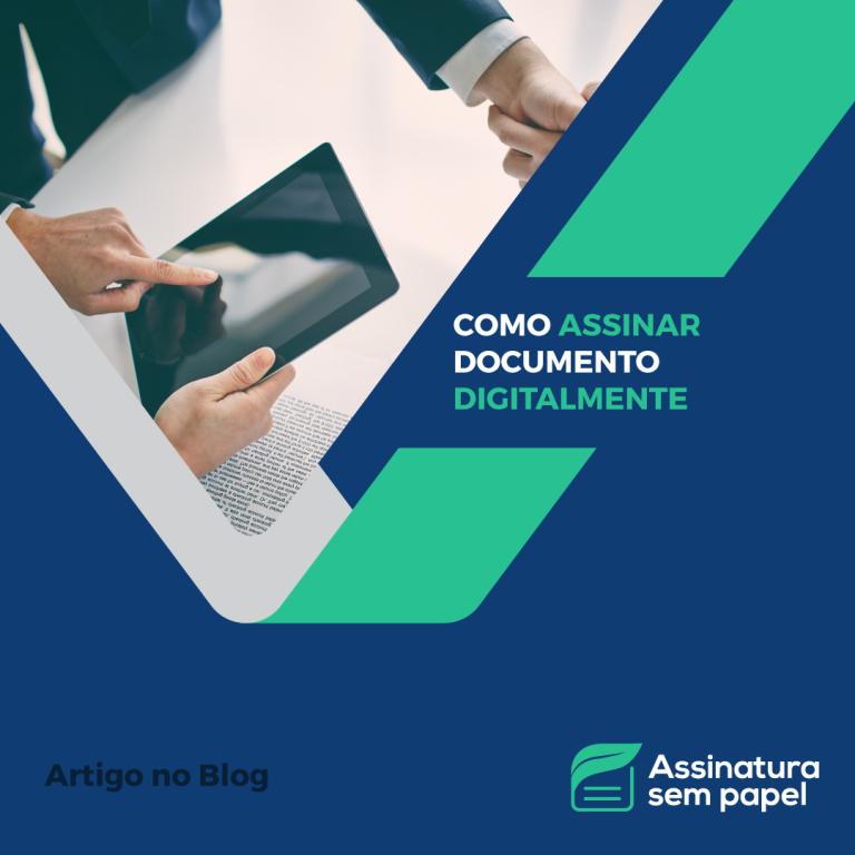 assinar documento digitalmente